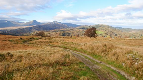 The Carneddau Mountains From An Old Track On The Side Of Moel Siabod