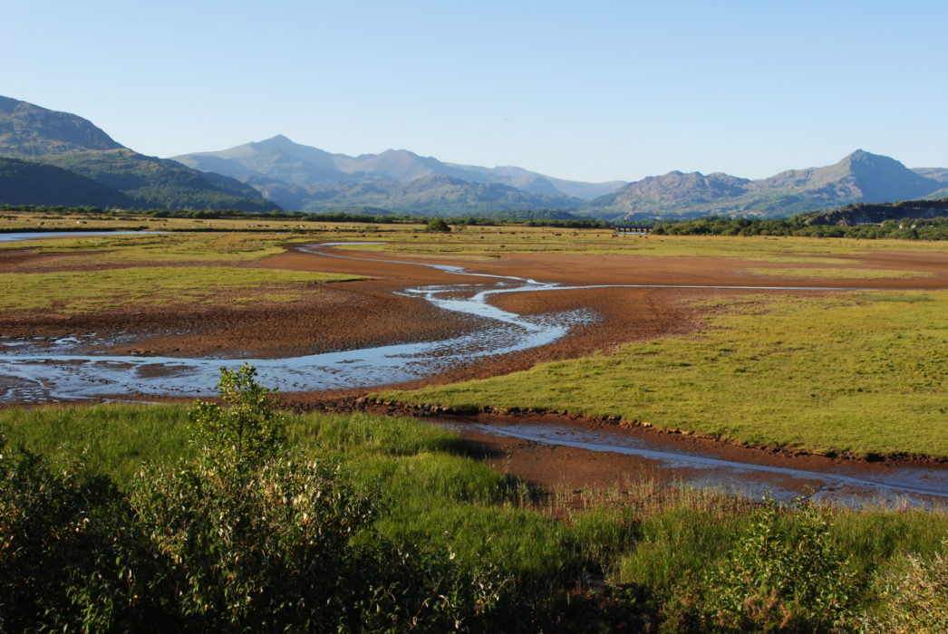 The Glaslyn Estuary With The Moelwynion And Snowdon