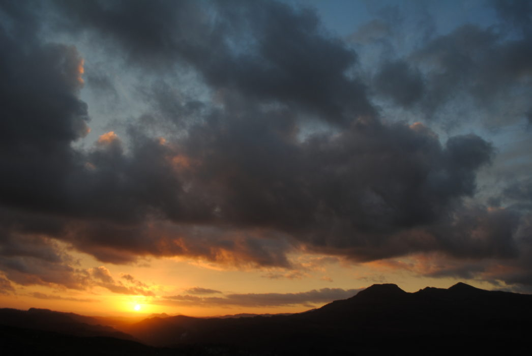 Sunset Over The Irish Sea From The Vale Of Ffestiniog