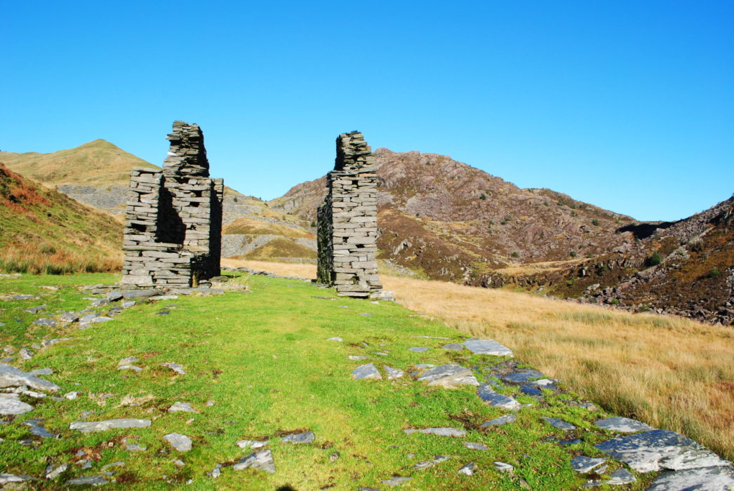 Old Slate Ruins High In Cwm Pennant
