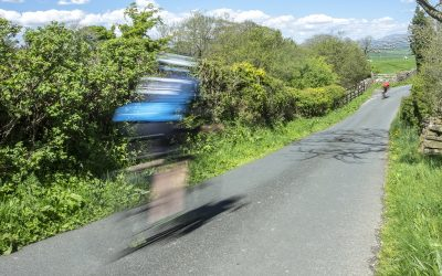 Speeding down the lower slopes of Pendle Hill
