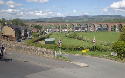 The 49 arch Whalley Viaduct that was completed in 1850  is said to contain seven million brick