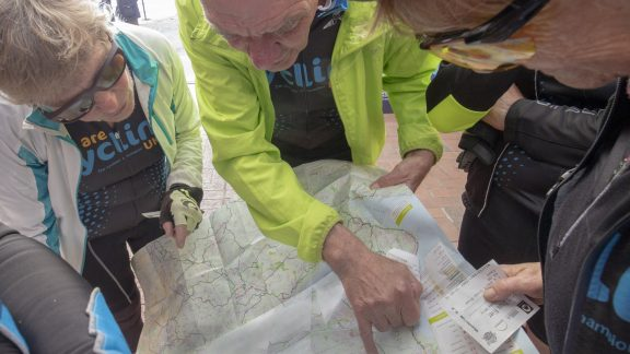 Consulting the map – despite most riders using GPS devices