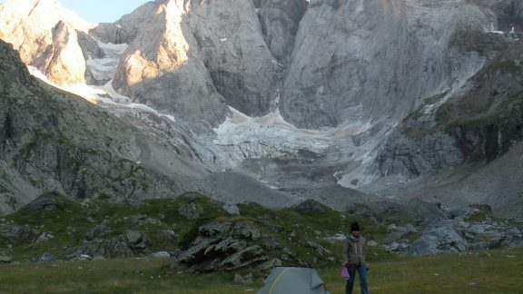 The north face of the Vignemale, seems from Les Oulettes de Gaube (August 2012)