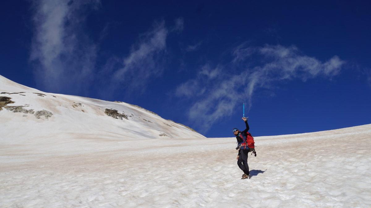 Jordi on the Ossoue glacier