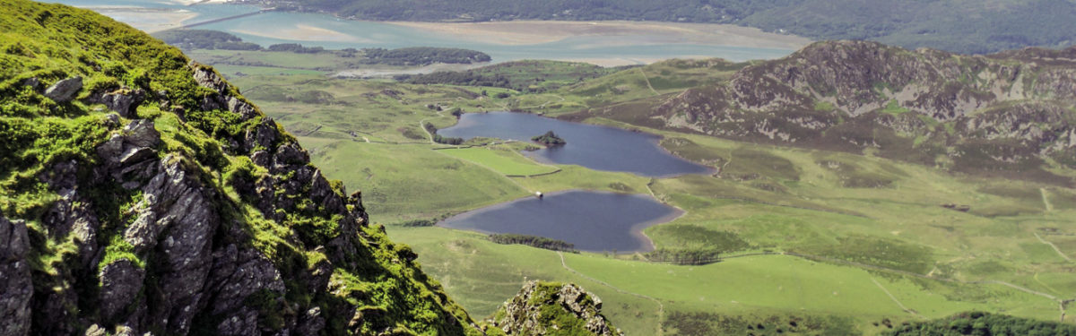 Llynnau Cregennen and Mawddach Estuary from Craig-las