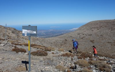 The Col At 2240M With The Sea Beyond