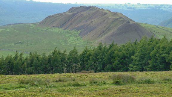 Old spoil heap seen from Mynydd Machen (Stage 2)