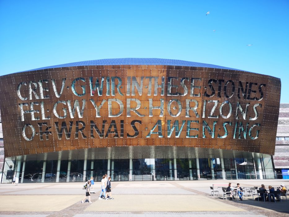 The striking Millennium Centre in Cardiff
