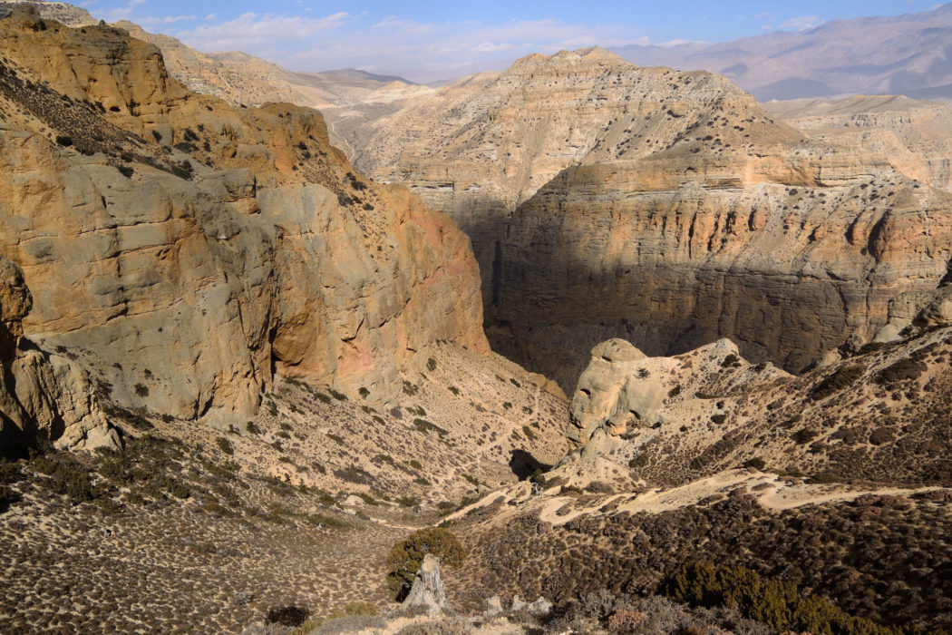 The undulating track leads us through one of the more spectacular gorges I have ever seen