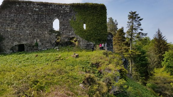 Exploring Aros Castle, once a stronghold of the Lord of the Isles