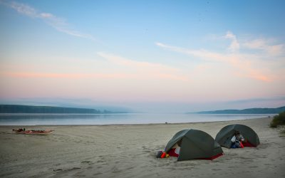 In 2018, the spring and summer had been so hot and dry that the River Danube was at a record low in places. An advantage of this for us was that the lower water level revealed huge, sandy beaches, perfect for camping on!