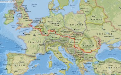 Our route, from start to finish. We kayaked over 4,000km through eleven countries and five capital cities across Europe.