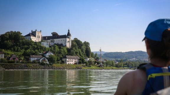 The River Danube flows through ten countries, including Austria where it passes numerous impressive castles that tower over the river.