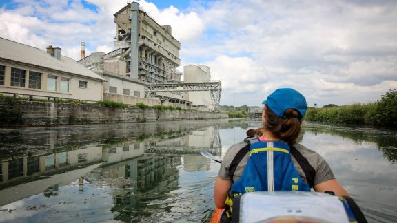 Through Northern France and Belgium, we spent a lot of time paddling along industrial canals and rivers. They certainly weren't the most beautiful waterways, but we often passed quite interesting features.
