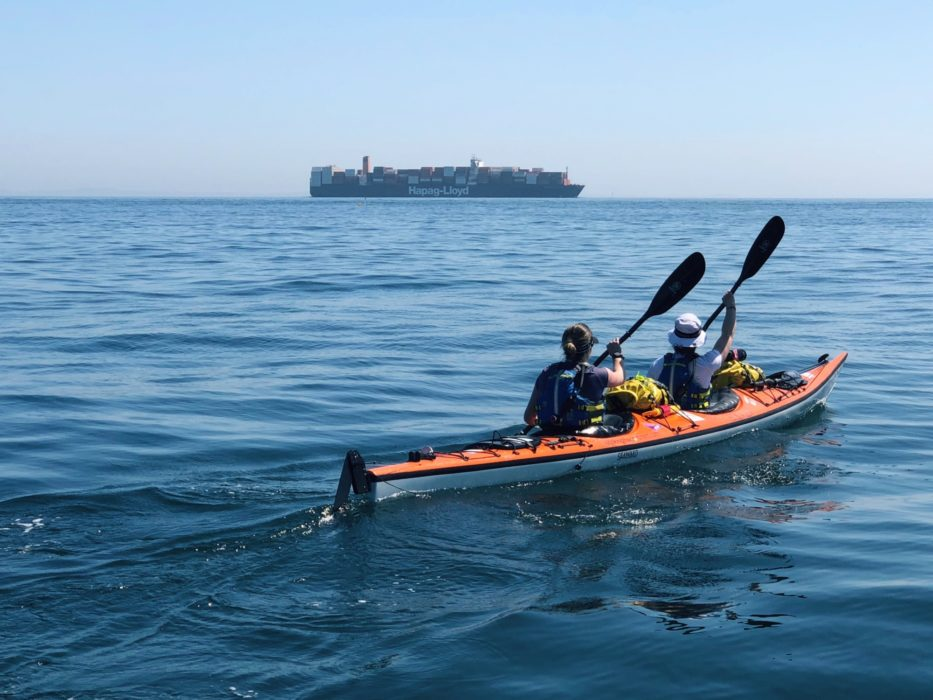 Kayaking across the English Channel - while quite tiring - was actually very straightforward. We were accompanied by a support boat and had some of the best conditions they had ever seen! The crossing took us five hours and eighteen minutes.