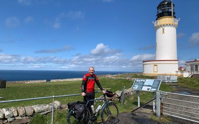 Day 3 03 James at the Cape Wrath Lighthouse