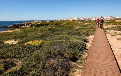 The boardwalk leading towards Porto Covo