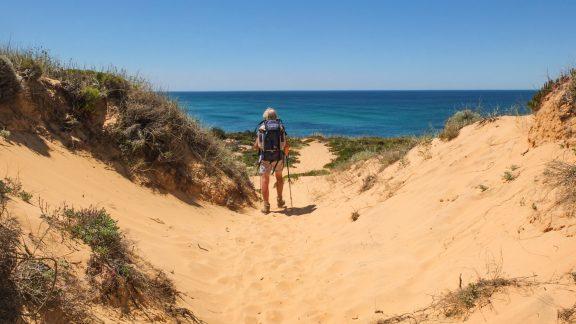 Crossing sand dunes en route to Brejo Largo
