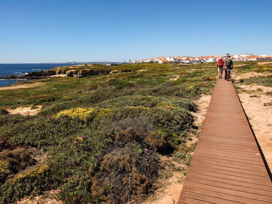 The boardwalk leading towards Porto Covo