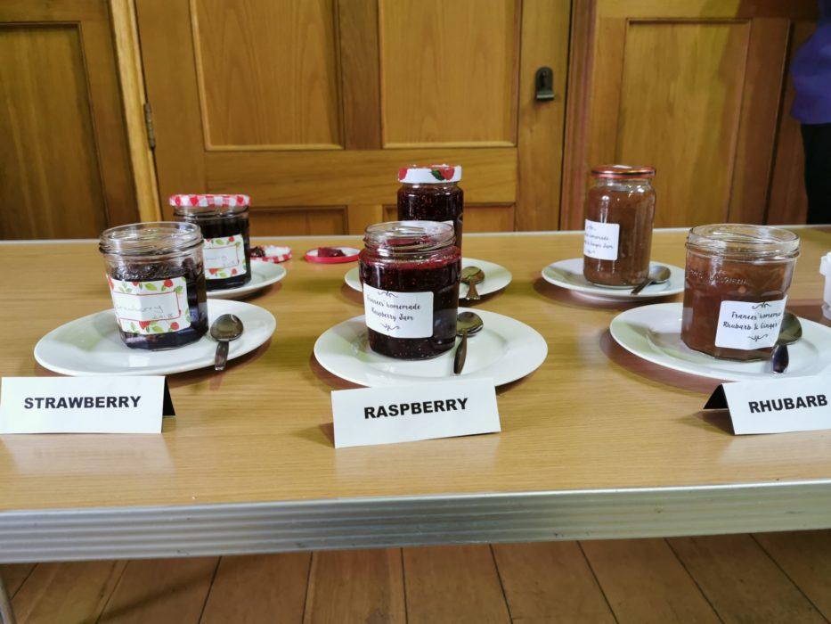 And three types of homemade jam too!