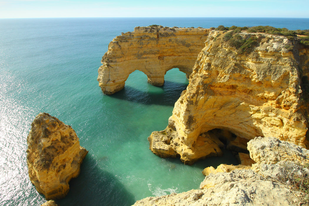 Beautiful arches near Praia da Marinha