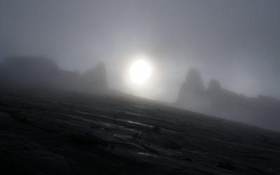 Sunrise behind Donkey Ears Peak