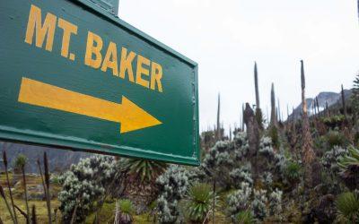 The trailhead of Mount Baker (4843m)