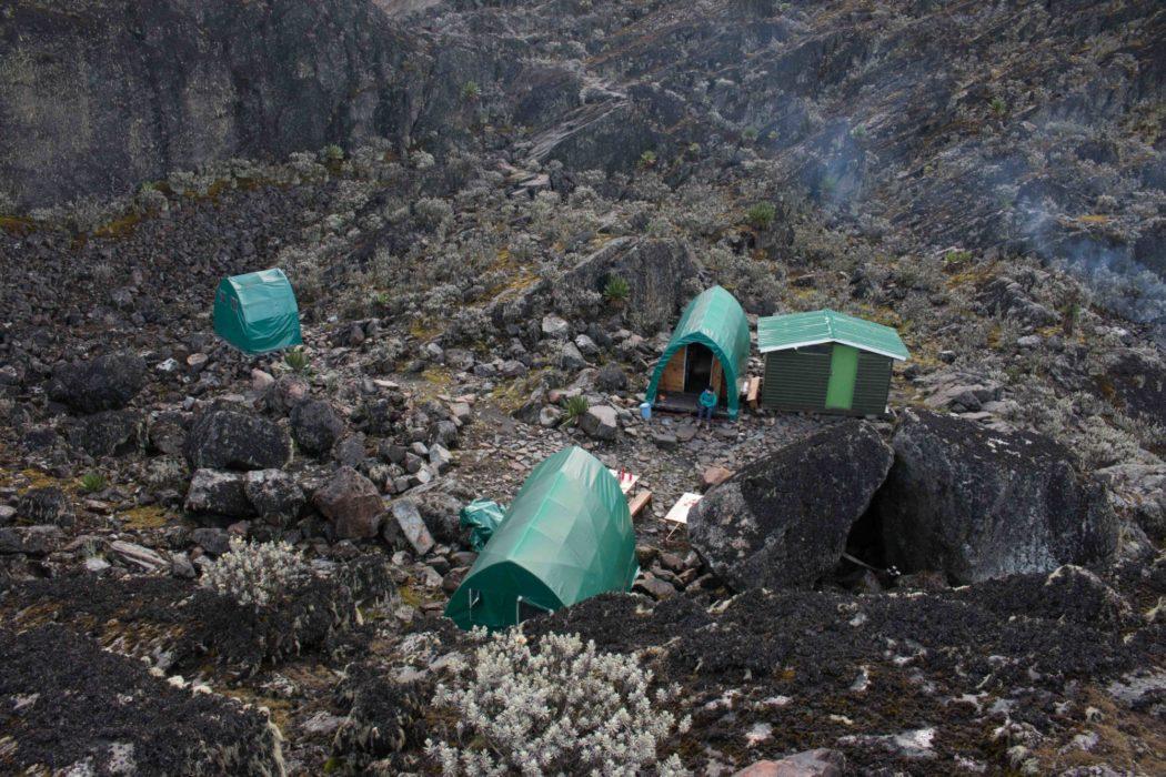 The huts at Margherita Camp at 4483m