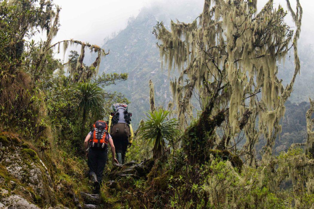 Trekking the muddy trails in wellies