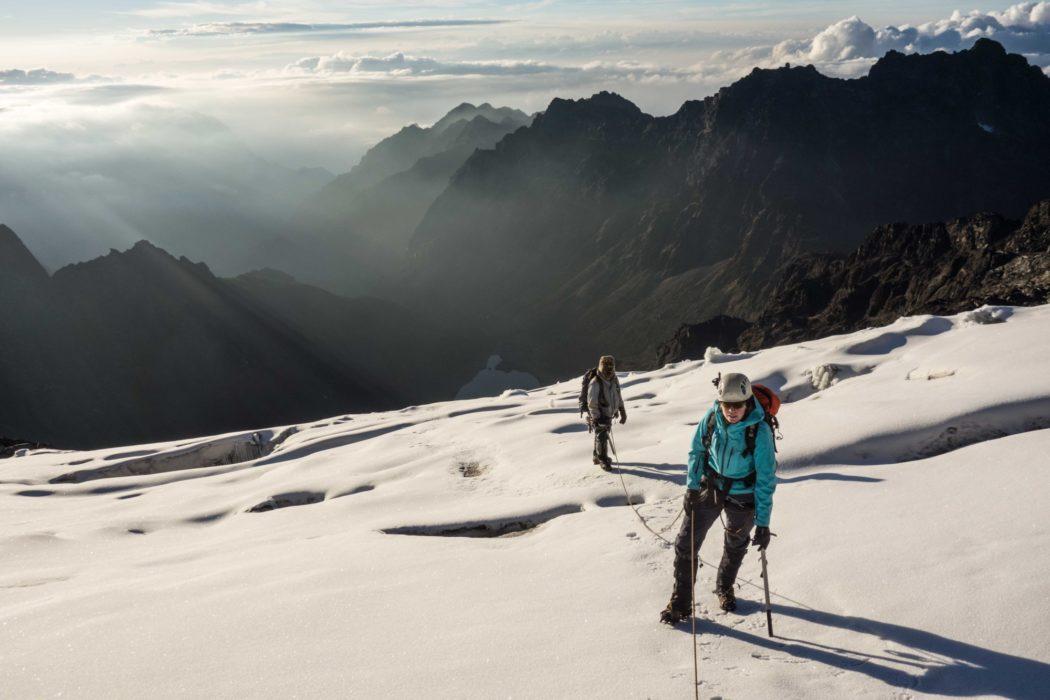 Glacier travel on the Margherita Glacier