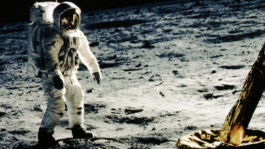 Aldrin on Moon TH