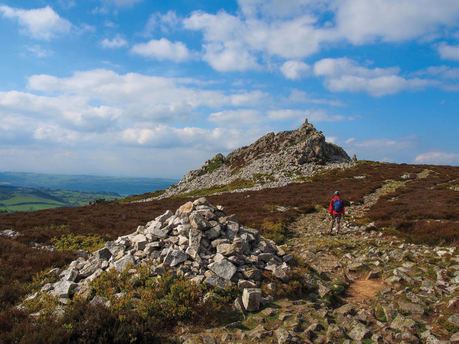 Manstone Rock, the highest point on Stiperstones.