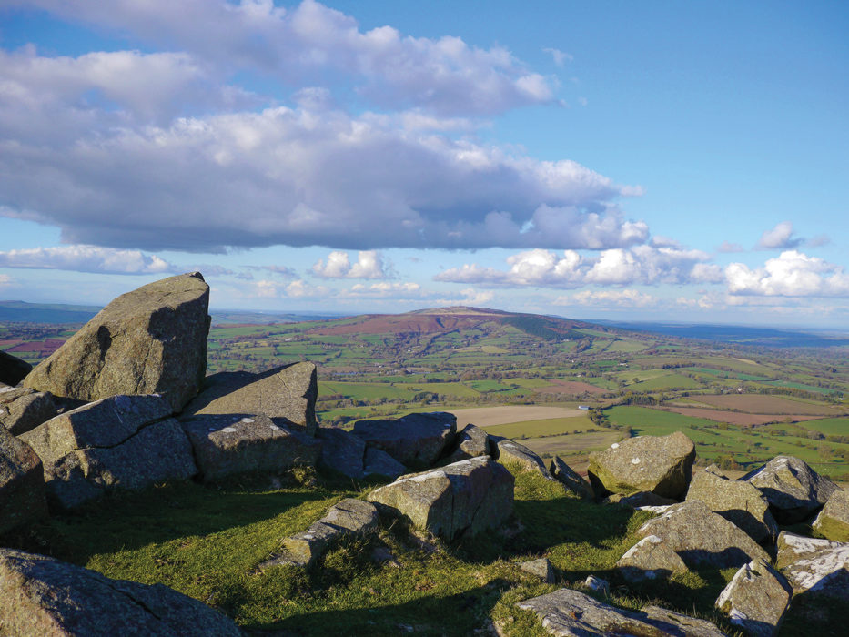 Giant's Chair rocks on Titterstone Clee Hill, the third highest hill in Shropshire.