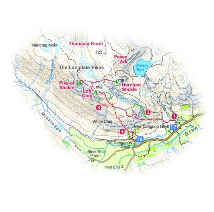 M040 Langdale Pikes Map