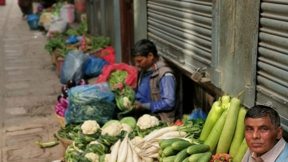 You could buy almost anything on the streets of Kathmandu including some vegetables I didn't recognise
