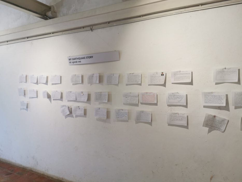 Earthquake stories - an exhibition in the Durbar Square museum