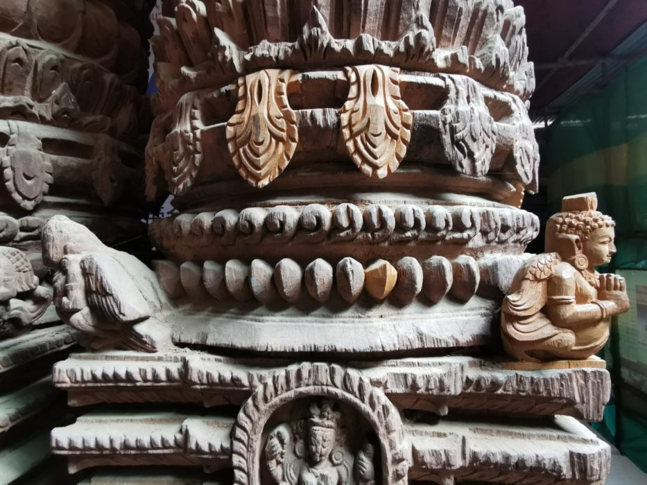 Replacement carvings. The level of care and attention to detail on these old buildings is moving.