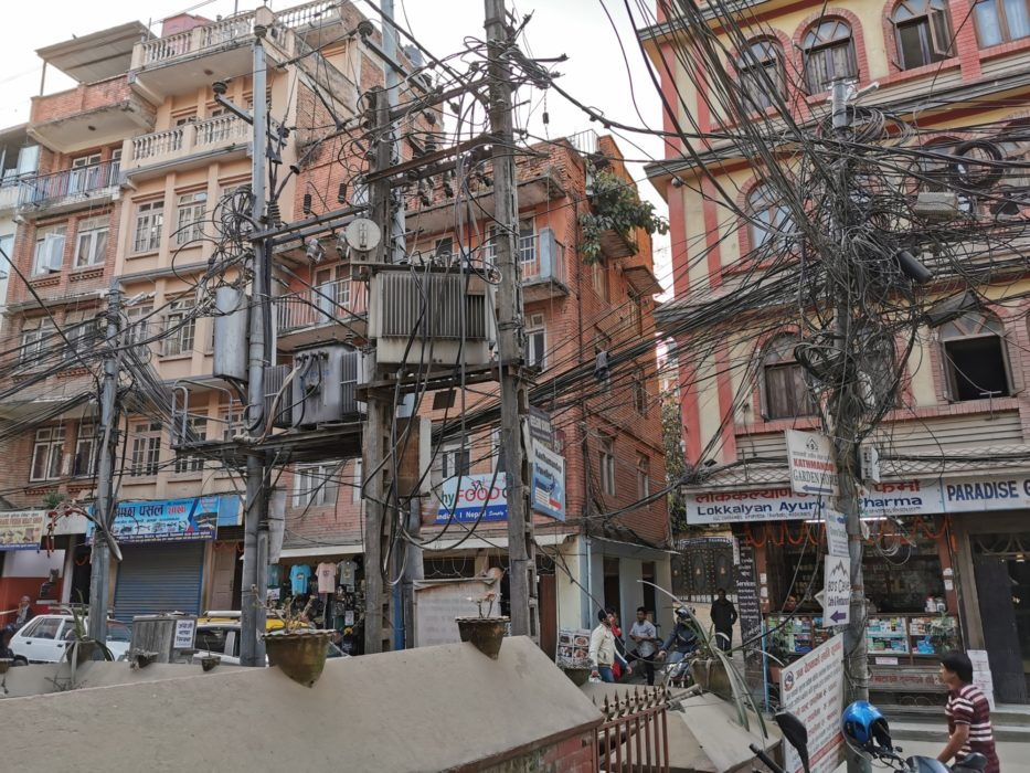 Even the telephone cables were chaotic - apparently they don't remove the old ones when putting new lines up so they just get more and more tangled.