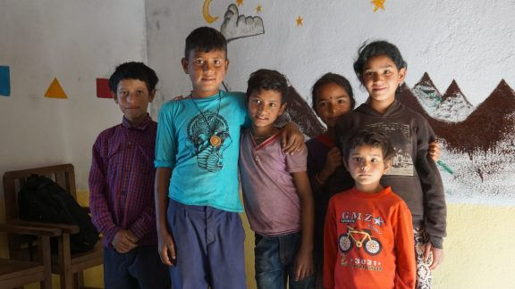 Some of the children in the classroom at Rawa Dolu