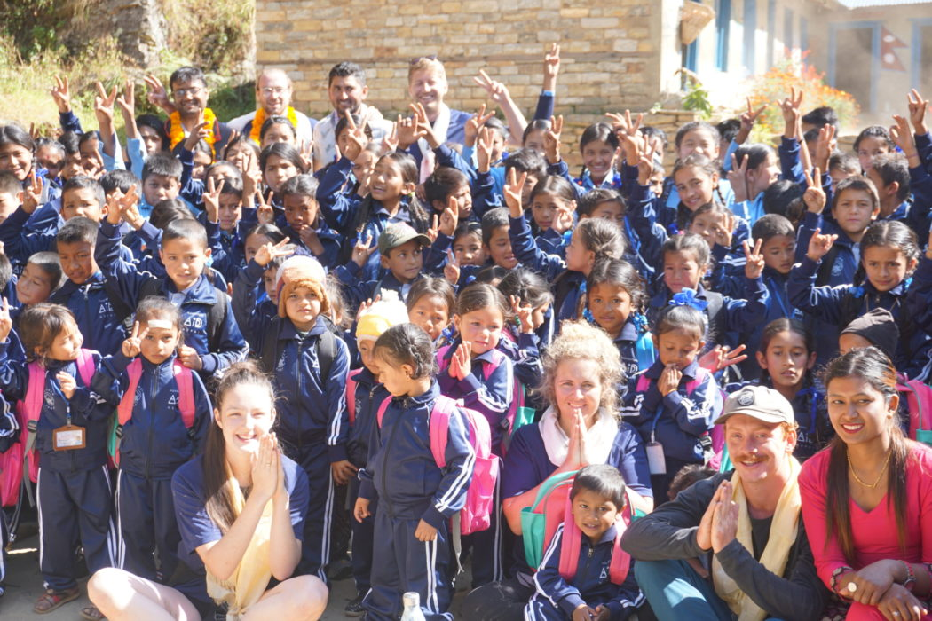 A group photo at Kinja School
