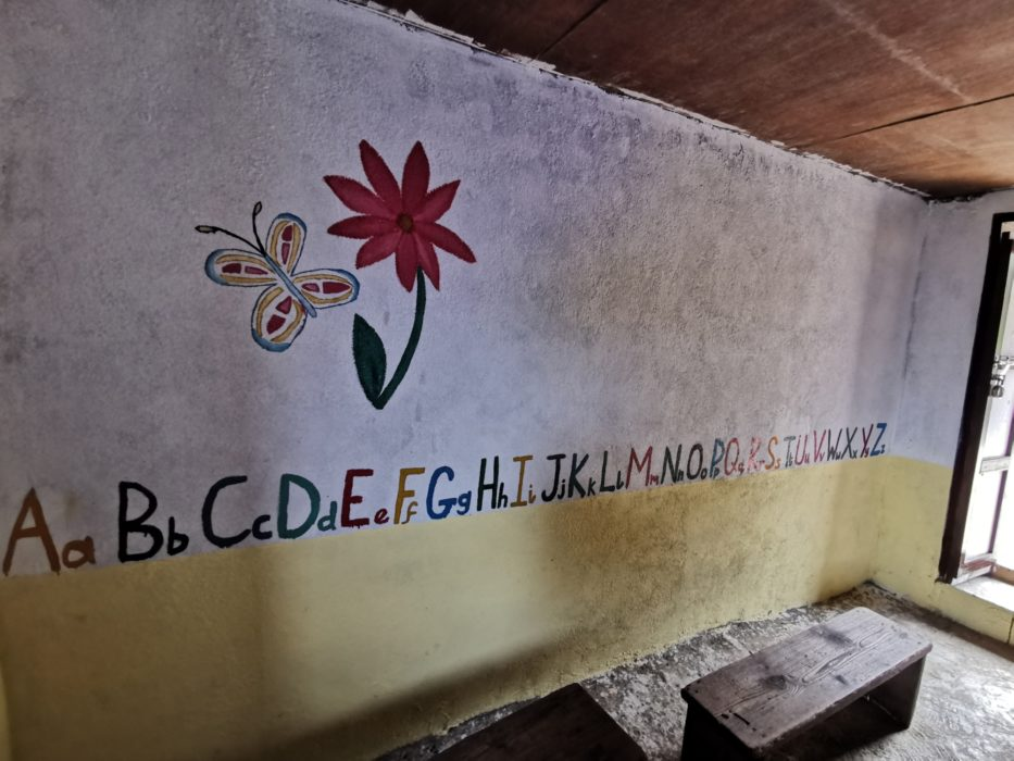 Finished murals inside the classrooms