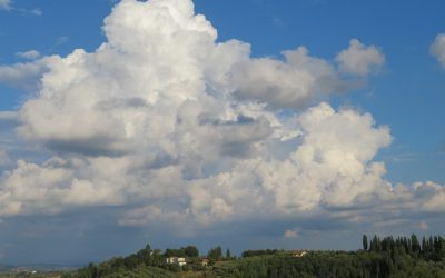 Beautiful clouds from San Miniato Alto
