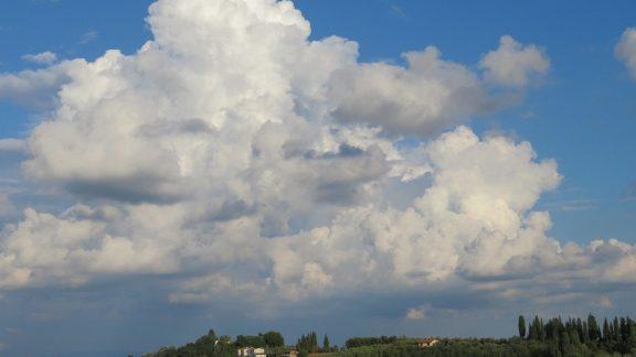 Beautiful clouds from San Miniato Alto