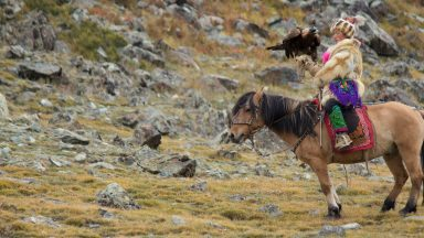 Meeting the nomadic eagle hunters of Mongolia