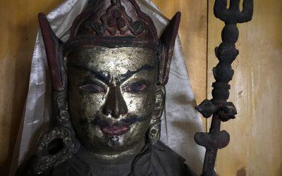 Deity in Ghunsa gompa