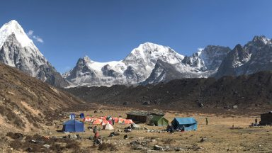TH 1 View from Ramche South Base Camp