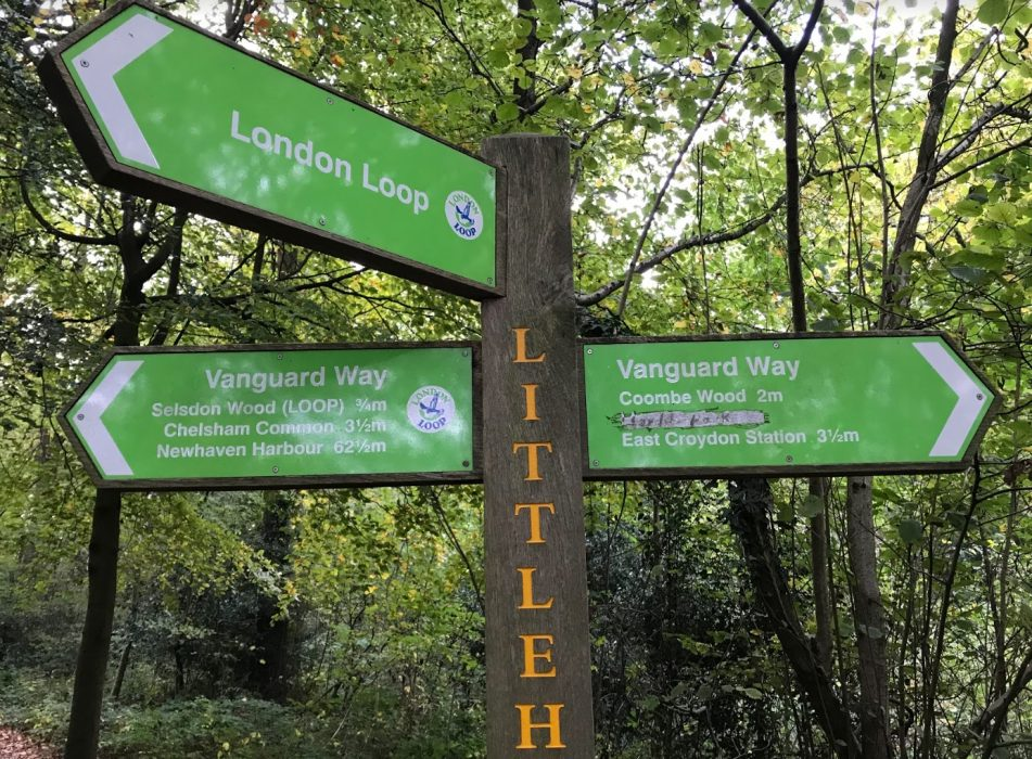 long-distance footpath sign