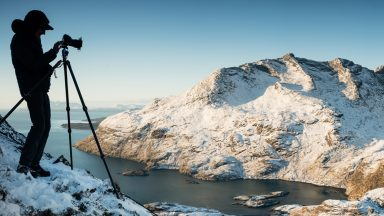 Photographer on Sgurr na Stri