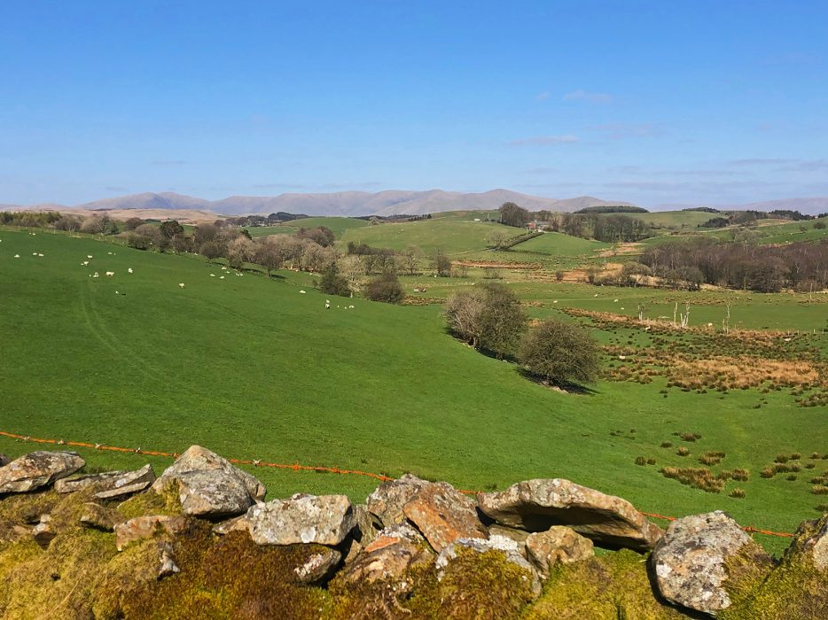 Distant views of the Howgills